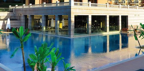 basen, taras słonezny