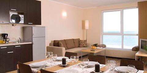 kuchnia / aneks kuchenny, pokój z widokiem na morze