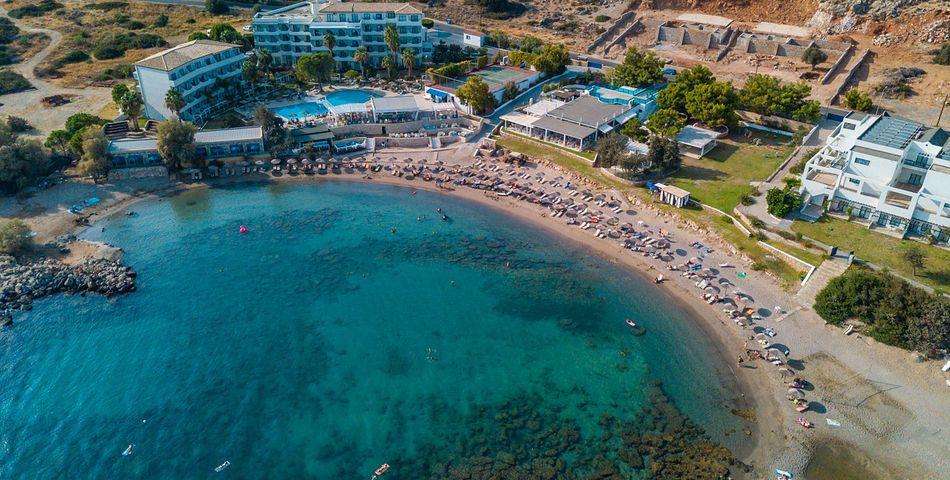 obiekt, teren hotelu, basen, plaża, video, wakacjepl