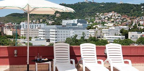 teren hotelu, taras słoneczny
