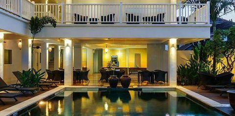 obiekt, teren hotelu, basen