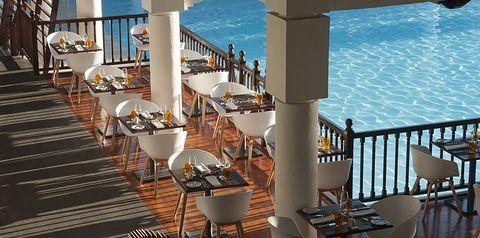 basen, restauracja