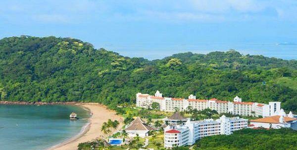 obiekt, teren hotelu, plaża