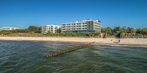 budynek główny, plaża