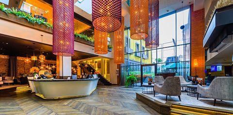budynek główny, recepcja / lobby, teren hotelu