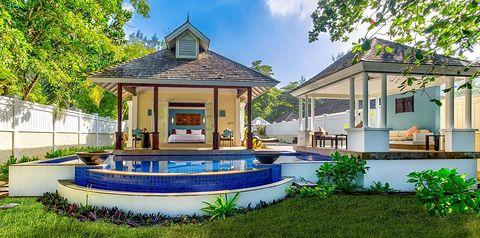 obiekt, bungalowy, basen