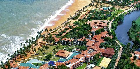teren hotelu, plaża
