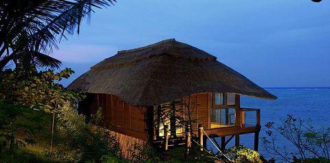 bungalowy, teren hotelu