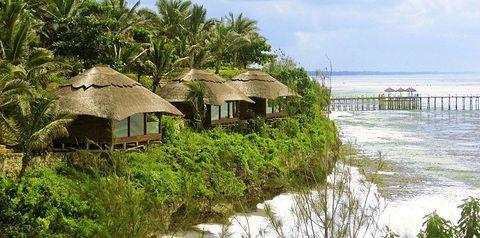 bungalowy, teren hotelu, plaża