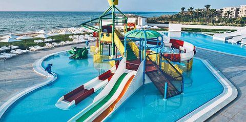 basen, zjeżdżalnia, dla dzieci