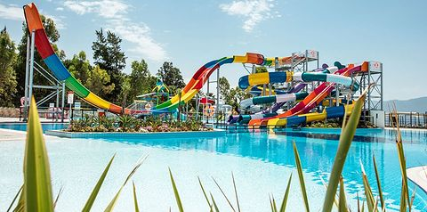 basen, aquapark, zjeżdżalnia, brodzik