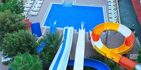 basen, zjeżdżalnia, brodzik, dla dzieci