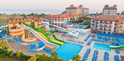 obiekt, teren hotelu, basen, aquapark