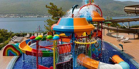basen, zjeżdżalnia, brodzik, dla dzieci, plac zabaw