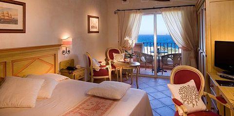 pokój, apartament, pokój z widokiem na morze