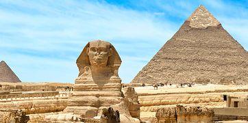 Symbole Egiptu - Nil i Piramidy