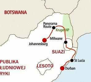 Wyprawa Kruger Suazi i Lesotho