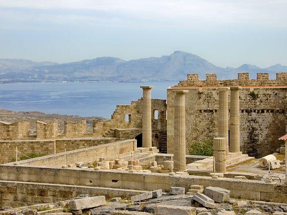Lindos - największe zabytki na Rodos