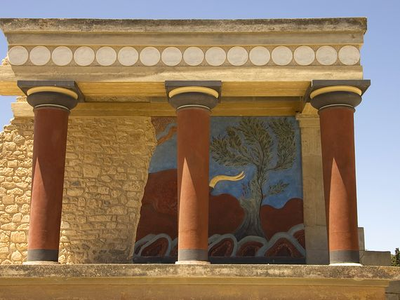 Ruiny w Knossos